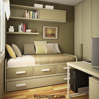 راهکارهایی برای جا دادن وسایل در اتاق کوچک