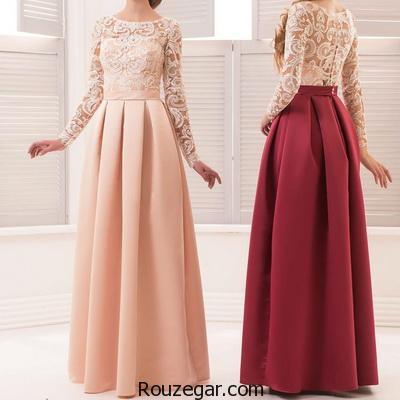 ۱۸ مدل لباس مجلسی بلند 2017
