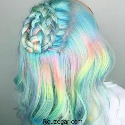 رنگ کردن موها به صورت هفت رنگ