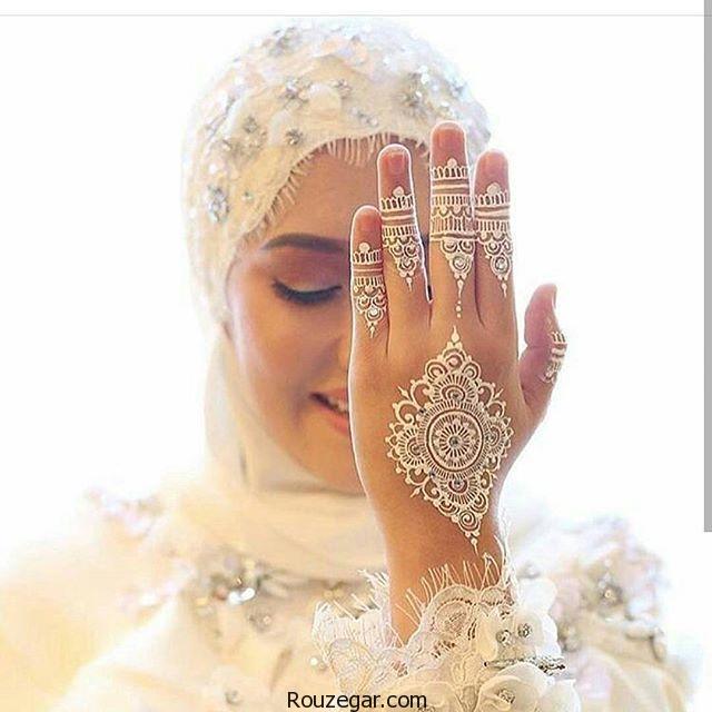 طرح ها و نقش های زیبا با حنای سفید روی دست ها،آموزش طرح حنا روی دست و پا،طرح حنا روي دست،طرح حنا ساده،طرح حنا عربی،طراحی روی دست با خودکار،طرح حنا روی پا،طرح حنا روی بازو،طرح حنا روی گردن