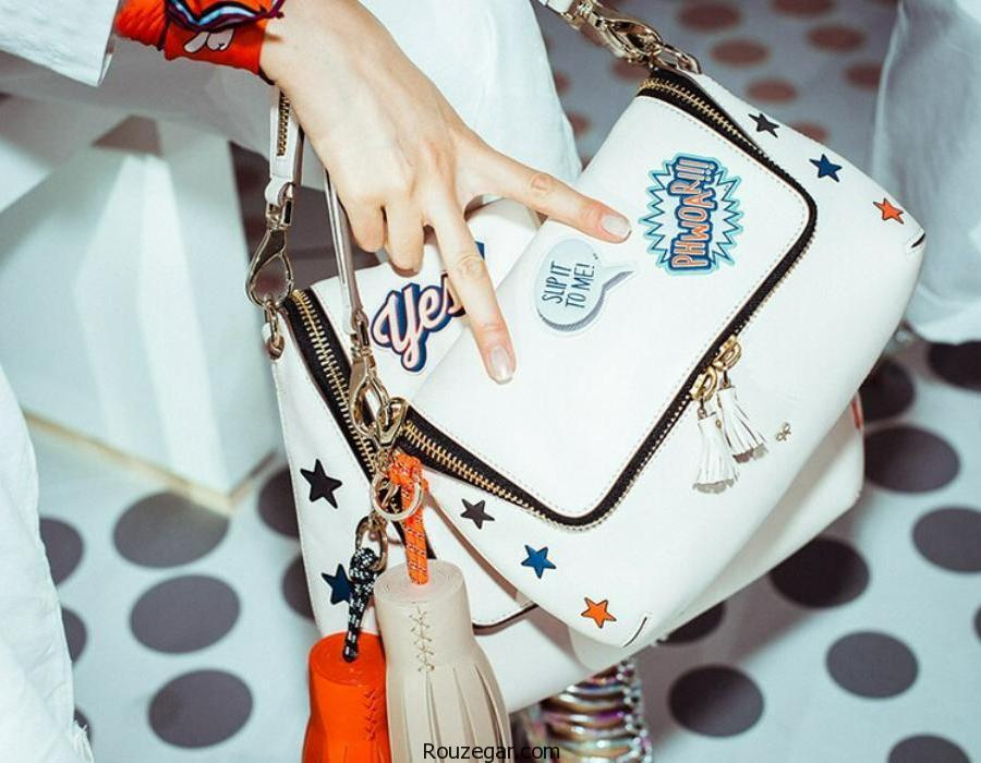 جدیدترین کیف های دستی فانتزی و استیکردار دخترانه مد سال 96-2017