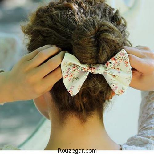 آرایش مو  مدل های مختلف تزئین مو با پاپیون
