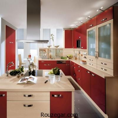 طراحی دکوراسیون آشپزخانه مدرن و روشن ۲۰۱۷  شیکترین طراحی دکوراسیون آشپزخانه