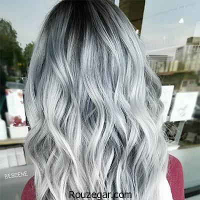 آموزش ترکیب رنگ مو دودی نقره ای