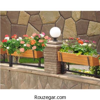 تزیین حیاط های بدون باغچه