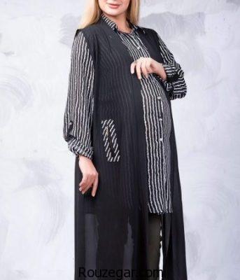 مدل مانتو بارداری ، مانتو بارداری بلند ، مانتو بارداری مجلسی