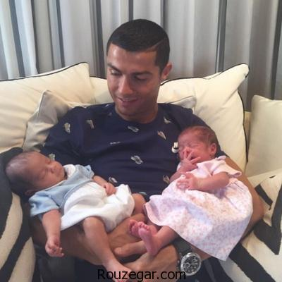 رونالدو و عکس دوقلوهای تازه متولد شده او در صفحه اینستاگرامش