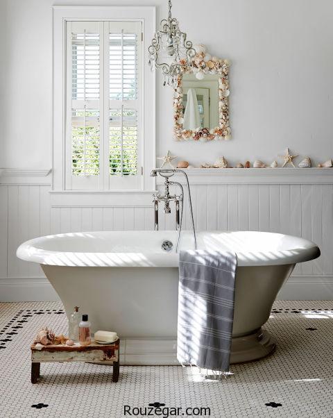 چیدمان حمام و دستشویی   مدل حمام و دستشویی در منزل  حمام سبک اروپایی   دکوراسیون حمام اروپایی