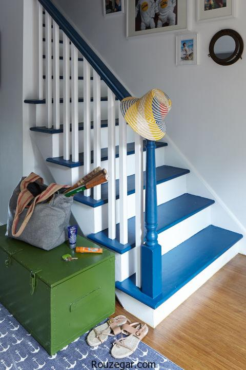 دکوراسیون راه پله داخل منزل 2017 و تزیین دیوار پلکان