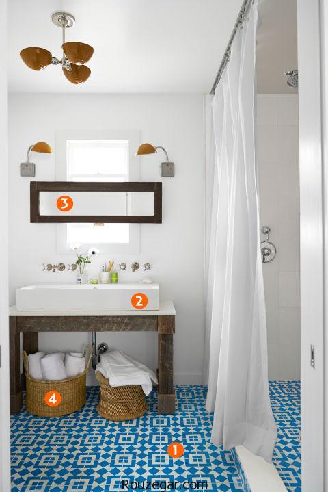 چیدمان حمام و دستشویی | مدل حمام و دستشویی در منزل| حمام سبک اروپایی | دکوراسیون حمام اروپایی
