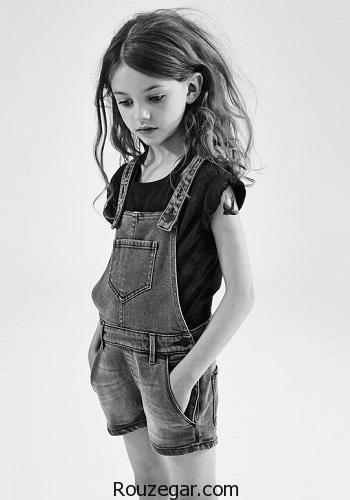 جدیدترین و شیک ترین مدلهای سارافون و سرهمی جین دخترانه
