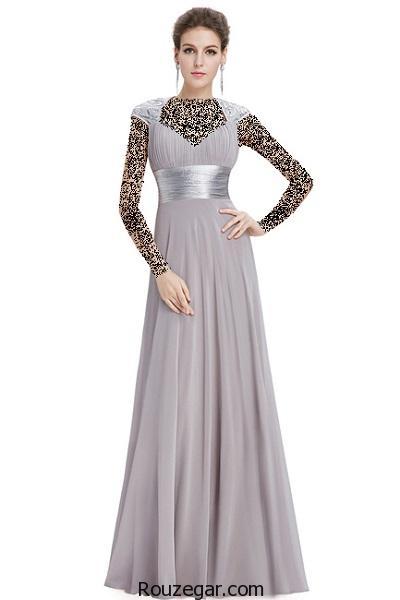 مدل لباس مجلسی بلند جدید و شیک 2017، 1396