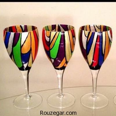 شیک ترین مدل های ویترای روی شیشه و ظرف