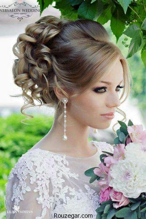 مدل شینیون بافت مو، مدل شینیون بافت مو عروس، مدل شینیون بافت مو 2018