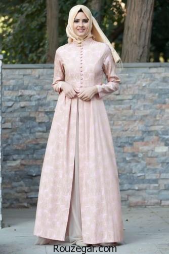 لباس مجلسی پوشیده جدید، لباس مجلسی پوشیده جدید 2018، لباس مجلسی پوشیده جدید زنانه