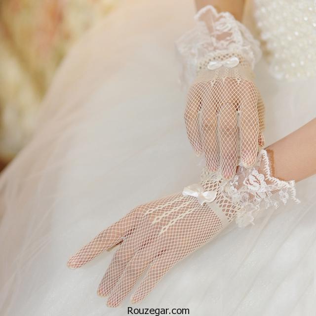 دستکش عروس   گالری جدیدترین و زیباترین مدل دستکش عروس مد سال 96-2017