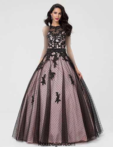 لباس مجلسی شب بلند، لباس مجلسی شب بلند دخترانه، لباس مجلسی شب بلند 2018