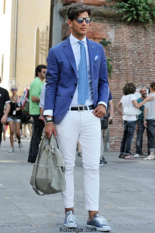 استایل مردانه با شلوار جین سفید|اصول ست کردن شلوار جین سفید
