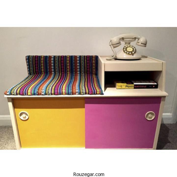 زیباترین مدلهایمیز تلفن صندلی دار در دکوراسیون منزل