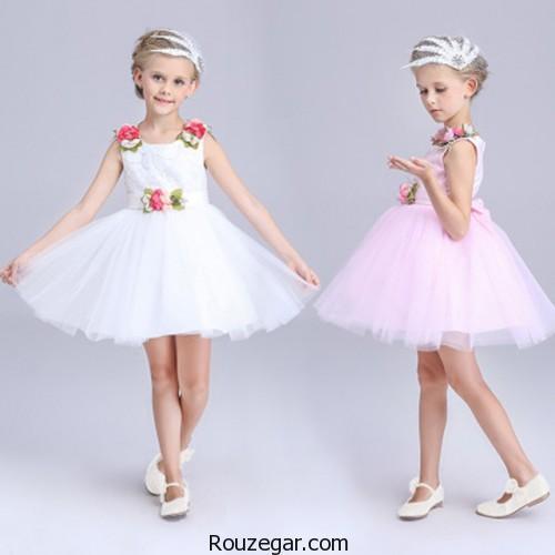 لباس عروس بچه گانه پرنسسی، لباس عروس بچه گانه پرنسسی 2018