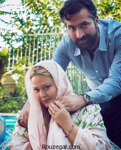 عکس بهاره رهنما و همسر جدیدش در حرم رضوی