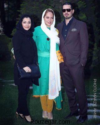 مهناز افشار و همسرش در کنار ساره بیات ,ساره بیات ,مهناز افشار
