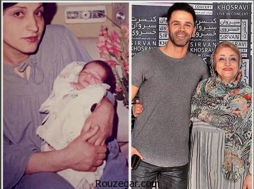 عکس سیروان خسروی و مادرش از گذشته تا به حال