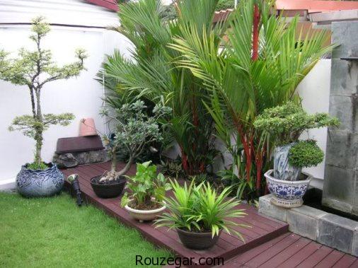 دکوراسیون فضای حیاط ، دکوراسیون فضای حیاط شیک، دکوراسیون باغچه حیاط