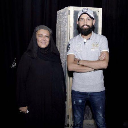 محسن افشانی و بهاره رهنما در نمایش خورشید های همیشه + عکس