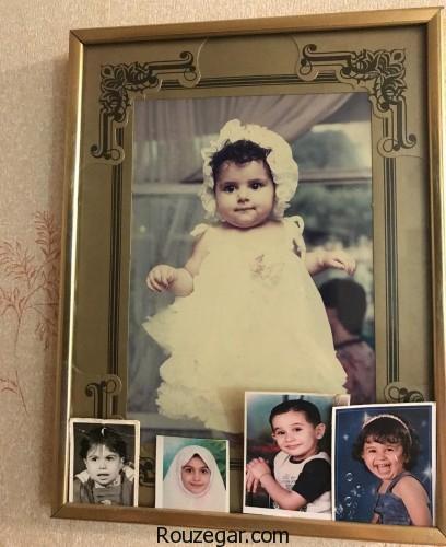 عکس کودکی مژده لواسانی مجری معروف تلویزیون