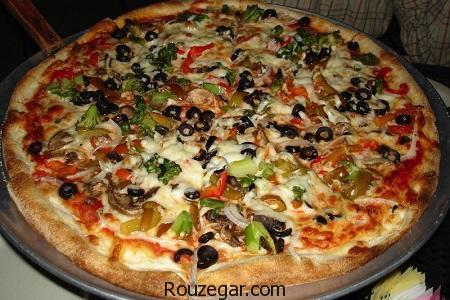 پیتزا آمریکایی,طرز تهیه پیتزا آمریکایی,آموزش پیتزا آمریکایی در خانه,دستور پخت پیتزا آمریکایی,طرز تهیه خمیر پیتزا آمریکایی,خمیر پیتزا آمریکایی