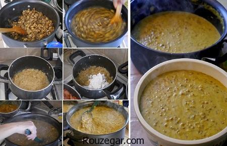 آش بادمجان,طرز تهیه آش بادمجان بدون گوشت,آش بادمجان با گوشت