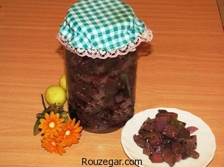 ترشی بادمجان , طرز تیهه ترشی بادمجان شکم پر , آموزش ترشی بادمجان با تمر هندی