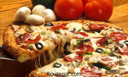 پیتزا رست بیف,طرز تهیه پیتزا رست بیف ایتالیایی,آموزش پیتزا رست بیف