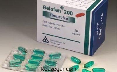 قرص ژلوفن برای سردرد،مقدار مصرف ژلوفن،موارد مصرف کپسول ژلوفن