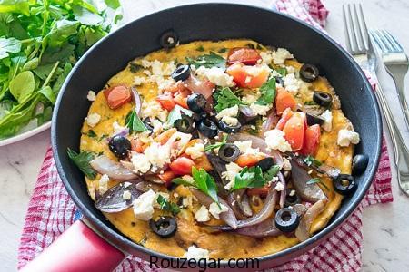 املت یونانی,طرز تهیه املت یونانی با سیاه دانه,آموزش املت یونانی با پنیر پیتزا