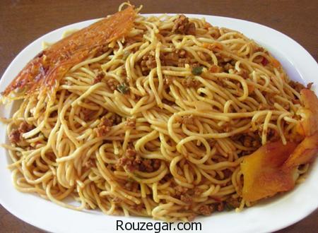 ماکارونی با سویا,طرز تهیه ماکارونی با سویا و پنیر پیتزا,آموزش ماکارونی با سویا و قارچ
