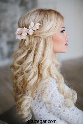 مدل مو عروس,مدل مو و آرایش عروس,مدل مو باز عروس