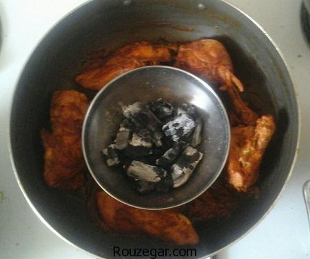 مرغ ذغالی,طرز تهیه مرغ ذغالی مجلسی,آموزش مرغ ذغالی خوشمزه