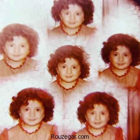 عکس دیده نشده کودکی شبنم قلیخانی