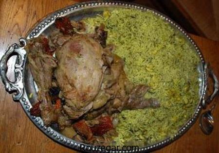 سبزی پلو با مرغ,طرز تهیه سبزی پلو با مرغ مجلسی,آموزش سبزی پلو با مرغ ریش ریش