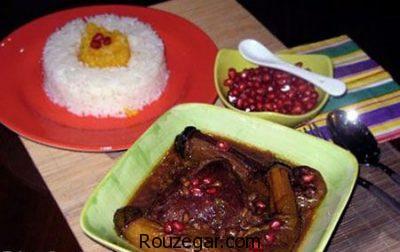 غذای مخصوص شب یلدا ، غذای مخصوص شب یلدا  در ایران