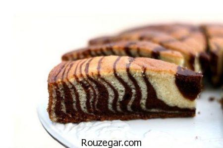 کیک ساده,طرز تهیه کیک ساده شکلاتی,آموزش کیک ساده خانگی در فر