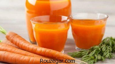 خواص آب هویج در لاغری,خواص آب هویج برای کودکان,خواص آب هویج برای کبد