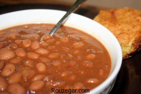 خوراک لوبیا چیتی,طرز تهیه خوراک لوبیا چیتی با قارچ,آموزش خوراک لوبیا چیتی با سیب زمینی
