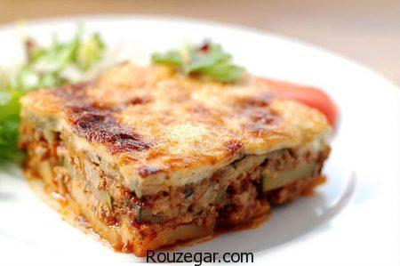 موساکا گوشت,طرز تهیه موساکا گوشت خوشمزه,آموزش موساکا گوشت و بادمجان