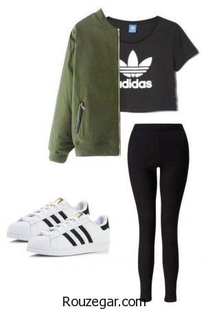 لباس ورزشی دخترانه آدیداس