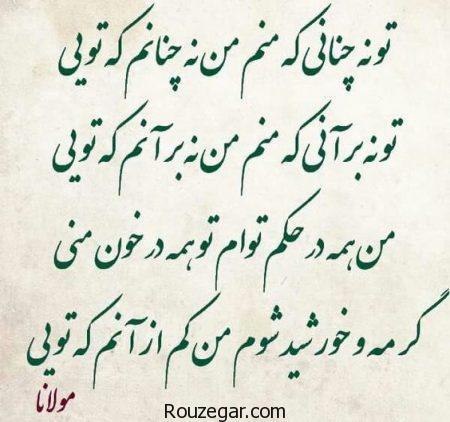 اشعار مولانا در مورد زندگی،اشعار مولانا