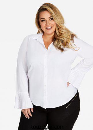 مدل بلوز ریون برای خانمهای چاق، مدل بلوز ریون و حریر برای خانمهای چاق