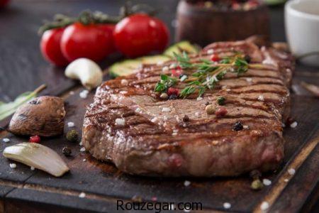 استیک گوشت گوساله,طرز تهیه استیک گوشت گوساله خوشمزه,آموزش استیک گوشت گوساله با سس قارچ